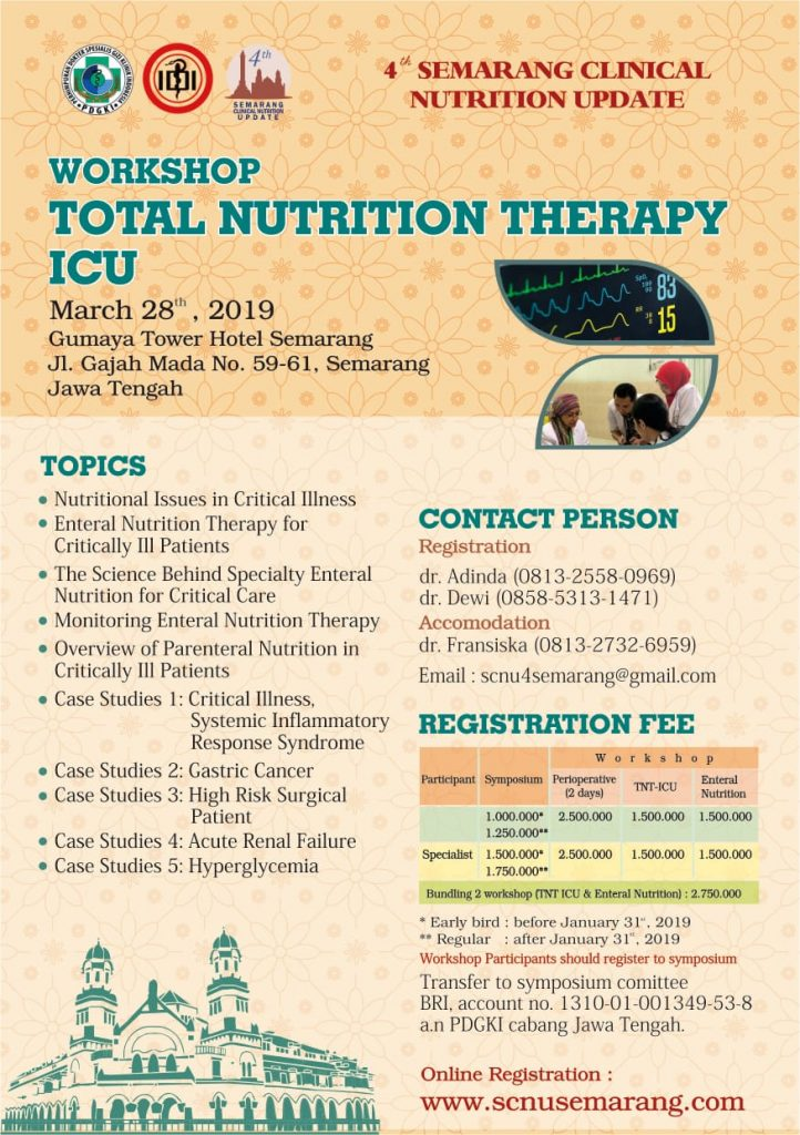 Workshop Total Nutrition Therapy Icu Pp Pdgki